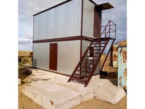 Столовая и жилой блок контейнер 2 этажа 5,85х2,4 м
