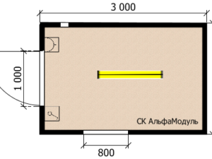Технический Блок контейнер  СП 3х2м