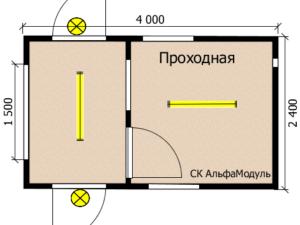 Пост-проходная 4х2,4